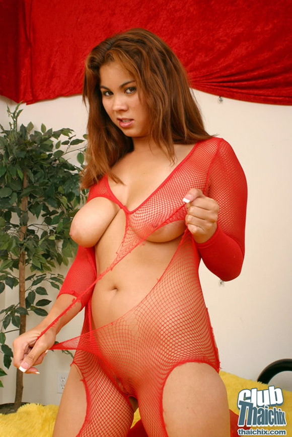 mai-ly-ripping-her-bodystocking